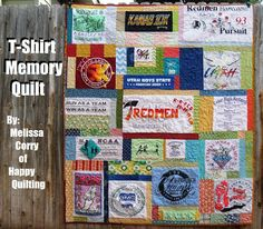 Happy Quilting: T-Shirt Memory Quilt Tutorial and Giveaway!!!