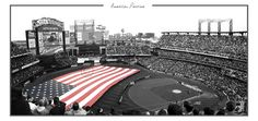 """American Pastimeby ~manticor  Photography / Photojournalism / Sports  """"I see great things in baseball. It's our game - the American game. It will take our people out-of-doors, fill them with oxygen, give them a larger physical stoicism. Tend to relieve us from being a nervous, dyspeptic set. Repair these losses, and be a blessing to us.""""    - Walt Whitman    The singing of the Star Spangled Banner at Citi Field, during the home opener there on April 13th, 2009. I would say it was the biggest fl"""