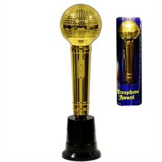 Microphone Trophy Award from Windy City Novelties