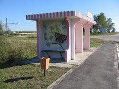 Another painted bus-stop near Mozyr in Belarus