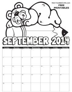 Printable 2014 September Coloring Calendar