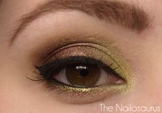 gold/bronze make up