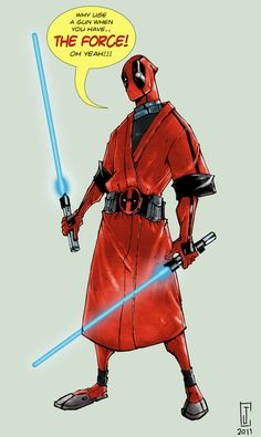 Deadpool Jedi - by ~Lego-07