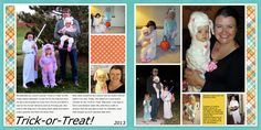 Trick-or-Treat Halloween Layout by No Reimer Reason.