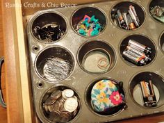 Get Organized Using Repurposed Household Items