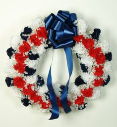 Great wreath for Memorial Day or the 4th of July.