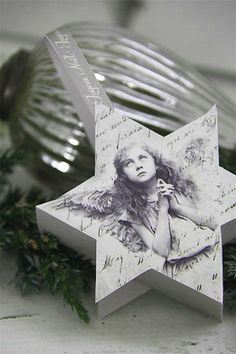 Make your own paper ornaments. Only a few left in stock! From Jeanne d'Arc Living!