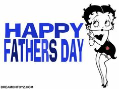 For more Betty Boop graphics and greetings, go to: http://bettybooppicturesarchive.blogspot.com/ Black and white Betty Boop with red heart - Happy Fathers Day #bettyboop