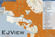 from the U.S. EPA, EJView is a mapping tool that allows users to create maps and generate reports on Environmental Justice.
