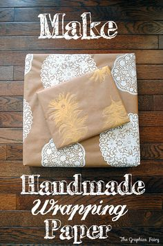 Make your own Homemade Gift Wrap! This is such a fun and easy project and you can really customize to match the theme of your decor!