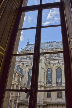 Versailles - looking out of the palace towards the royal chapel