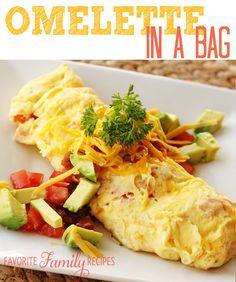 Omelette in an bag