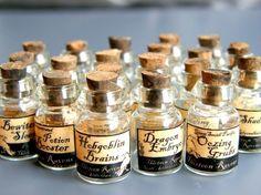 Dollhouse 1/12 Scale Miniature Witch Potion Labels - SET No.1