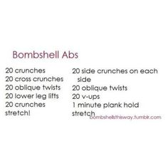 bombshell abs   #bombshell #abs #workout #plans