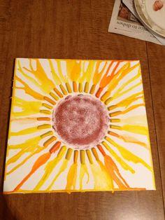 Sunflower Crayon Art