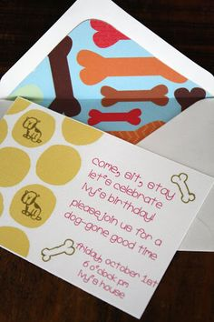 *Party Accessories*: An adorable puppy dog birthday party  TRISH------------SMOKEY WANTS THESE INVITATIONS..............OK