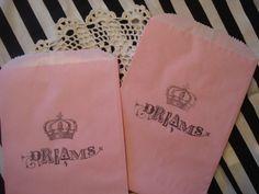 treat bags, fabric bags, dream, princess parti