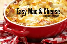Easy and healthy Mac and Cheese recipe / http://villagegreennetwork.com/easy-mac-cheese/