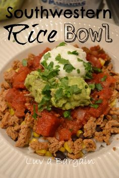 Southwestern Rice Bowl  This clean eating recipe makes the perfect dinner! - Luv a Bargain