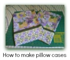 Free pillow case pattern and easy to follow video instructions