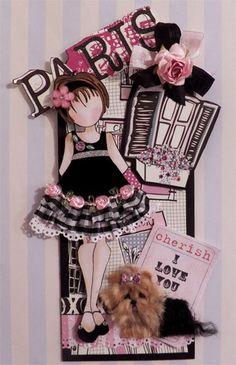 doll stamp, craft, dogs, juli nut, art, doll card, prima doll tags, prima dolls tags, paris style
