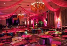 Bollywood theme party ~ #party #pink #purple #bollywood