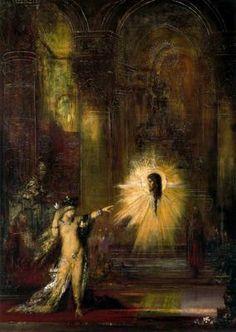 La Aparición. Gustave Moreau.