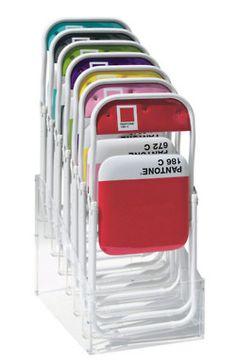 Pantone Chairs 2 product, panton fold, panton chair, color block, sedi panton, fold chair, folding chairs, decor idea, pantone