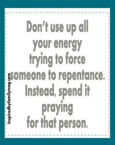 Don't corner someone into repentance