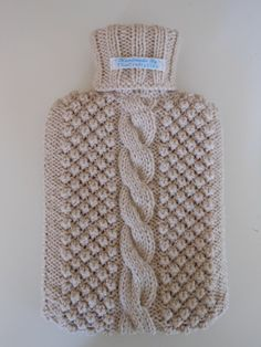 Hand Knitted Hot Water Bottle