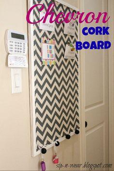 Chevron cork board