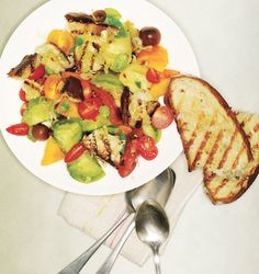 Grilled Panzanella Recipe from Epicurious.com #myplate #vegetables
