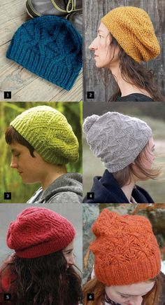beautifully textured hats to knit