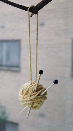 Knitter's Christmas ornament