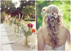 wild flower wedding decorations