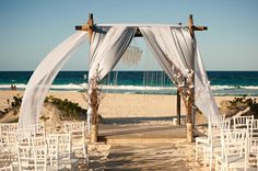 Romantic Beach Wedding Ceremony Beach Wedding Ceremonies
