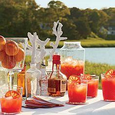 Blood Orange-Bourbon Coolers Coastalliving.com