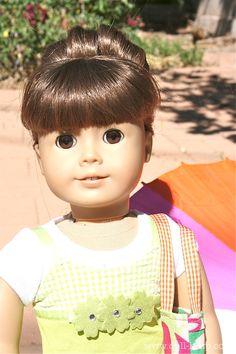 Doll Hair: The Fabulous Sock Bun for American Girl Dolls tutorial - so cute & on trend
