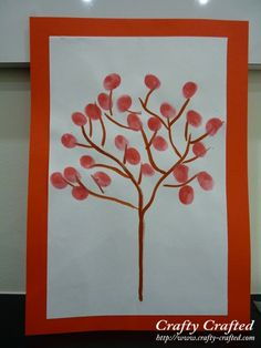 Fingerprint Cherry Blossoms « Chinese New Year « Festive Crafts « Crafty-Crafted.com