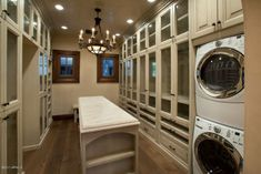 closet with washer dryer!!! brilliant!