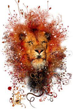 Lion!  By Miguel Farfan  digital art