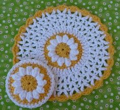 Daisy Dishcloth and Scrubbie Set Crochet PATTERN