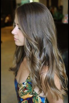 Ash brown with ash blonde highlights