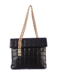 { Chanel Square Quilted Shoulder Bag }