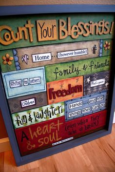 Count your blessings- Nursing Home Visit