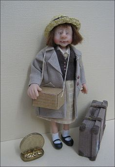 12th Scale WW2 Evacuee Girl - SOLD