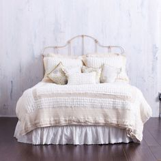 CREAMY QUEEN BEDDING    Soft Rosettes .. Retro by CLOUDHUNTERCO, $400.00