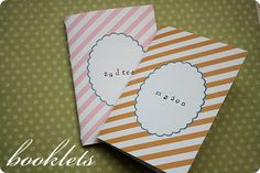 journal booklets