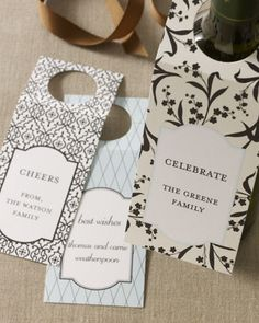 Personalized Wine Gift Tags are a great way to tell your host how much you appreciate all they've done.    #wine #tags #gift #horchow