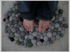 Felted Stone Rug  http://felting.craftgossip.com/2012/05/25/felted-stone-rug/
